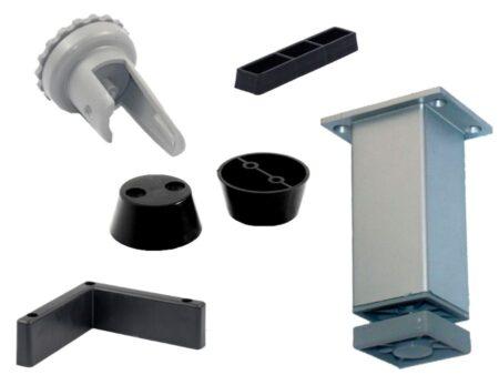 Bases plásticas fijas y regulables
